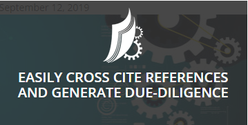 Easily Cross Cite References and Generate Due-Diligence Matrix in Max-IDS